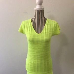 Nike Volt Green Camo Burnout V-Neck Top